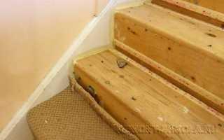 Ремонтные работы деревянной лестницы