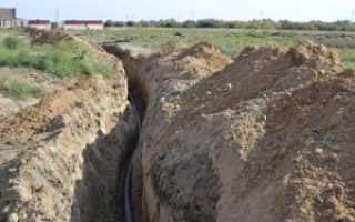 Прокладка полиэтиленовых трубопроводов в земле