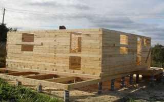 Изготавливаем фундамент для дома из бруса