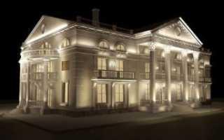 Освещение фасада доступная функциональность