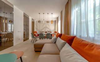 Дизайн кухни, столовой, гостиной