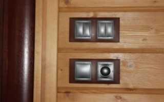 Скрытая электрика в деревянном доме