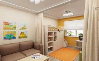 зонирование детской комнаты новорожденного