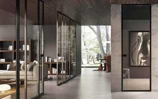 Стеклянные межкомнатные двери в интерьере