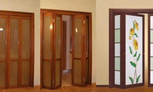 Дверь-гармошка: описание и фото