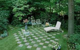 Патио в виде шахматной доски у себя на участке