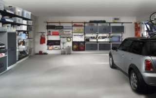 Полки в гараже