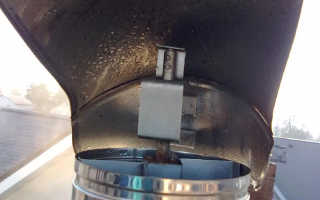 Конденсат в дымовой трубе