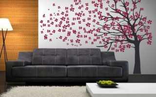Виниловые цветы в интерьере – красивые стикеры на стену