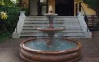 Плавающие фонтаны в садово-парковом интерьере