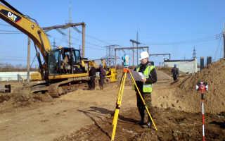Производство геодезии участка перед строительством