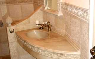 Столешница из гипсокартона для ванной
