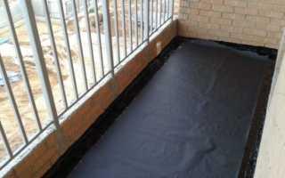 Процесс гидроизоляции балкона
