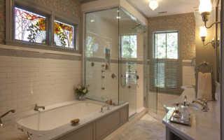 Окно устройство в ванной комнате