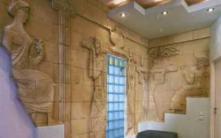 Использование искусственного и натурального каменя в интерьере квартиры