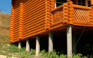 Фундамент столбчато-ленточный предназначенный для неблагоприятных участков