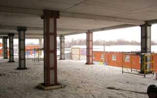 Металлические колонны для укрепления здания