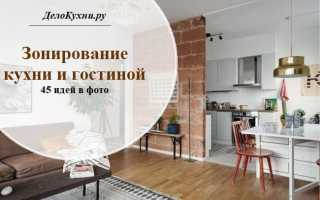 Зонирование кухни