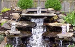 Искусственный водопад дома