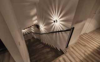 Освещение лестницы в доме
