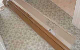 Как установить дверь гармошку