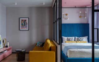 Зонирование комнаты перегородкой