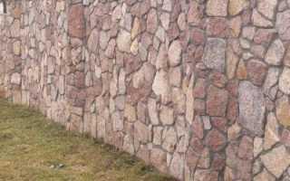 Как сделать каменный забор