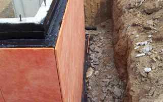 Фундамент из бутового камня – утепление