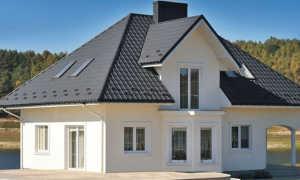 Сочетание цвета крыши и фасада дома
