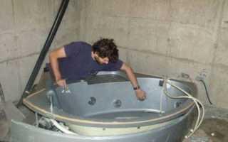 Подключение гидромассажной ванны