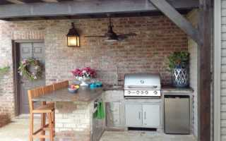 Как построить летнюю кухню