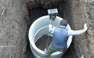 Кольцо железобетонное канализационное – правильная установка