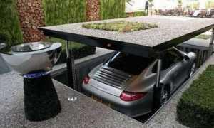 Стоянка для машины на даче