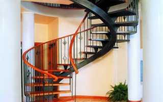 Винтовая лестница относительно разновидности ступеней