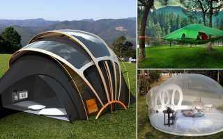 Дизайн загородного домика в виде походной палатки