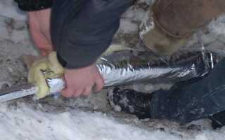 Водопровод зимой на даче